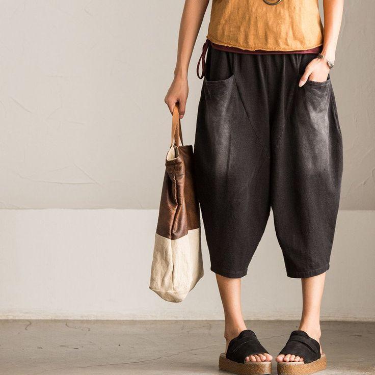 Korean Style Casual Wide-legged Pants Women Trousers K0226A