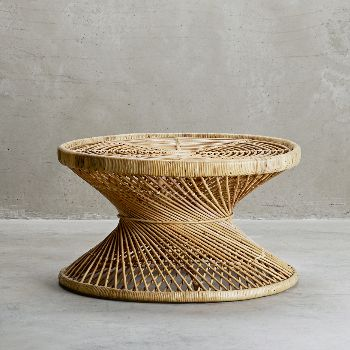 This Palma Rattan Coffee Table Is A Beautiful Piece Of Classic Retro Design Which Is Perfectly