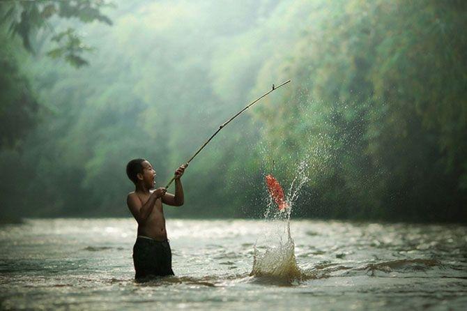 Fishing in Jakarta