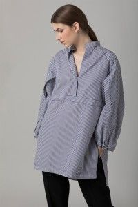 Pinstripe Cotton Shirt | Amanda Wakeley | Amanda Wakeley