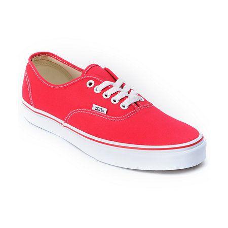 Vans Authentic Red Shoe