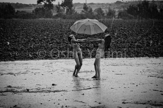 Black and White digital photo, Dancing in the rain free in ...