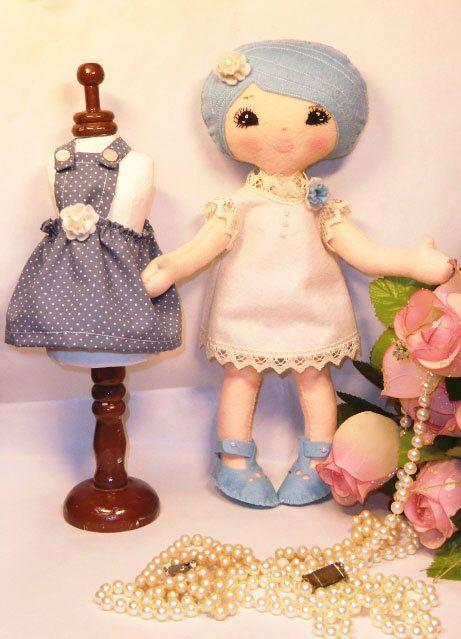 Art Doll Daisy Doll in miniature only 3.8 cm. by ArtistaToscana