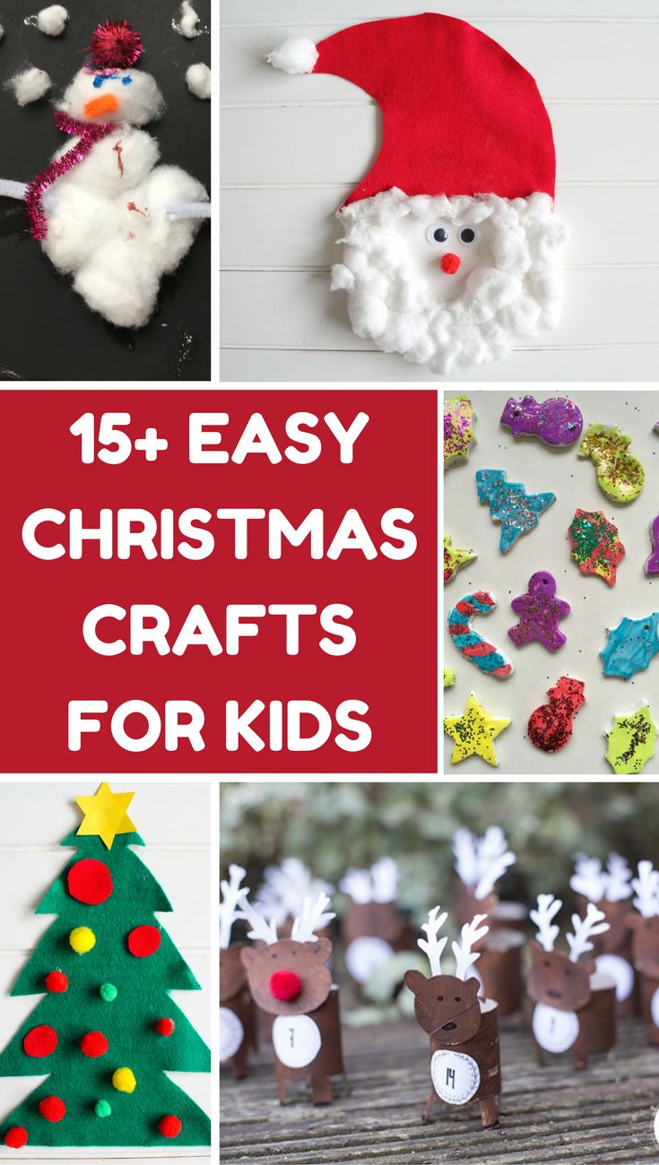 15 Easy Christmas Crafts For Kids | Kids Christmas Crafts | Christmas Crafts For Kids | Christmas Crafts For Toddlers | Easy Christmas Makes