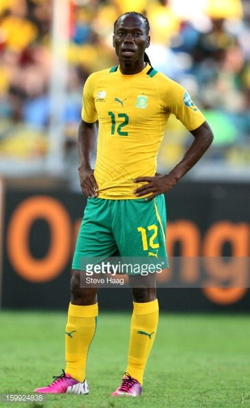 Reneilwe Letsholonyane of South Africa during the 2013 African Cup of Nations match between South Africa and Angola at Moses Mahbida Stadium on...