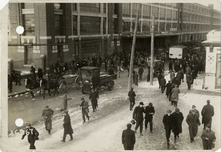 Workers leaving Ford Motor Company factory | DPL DAMS