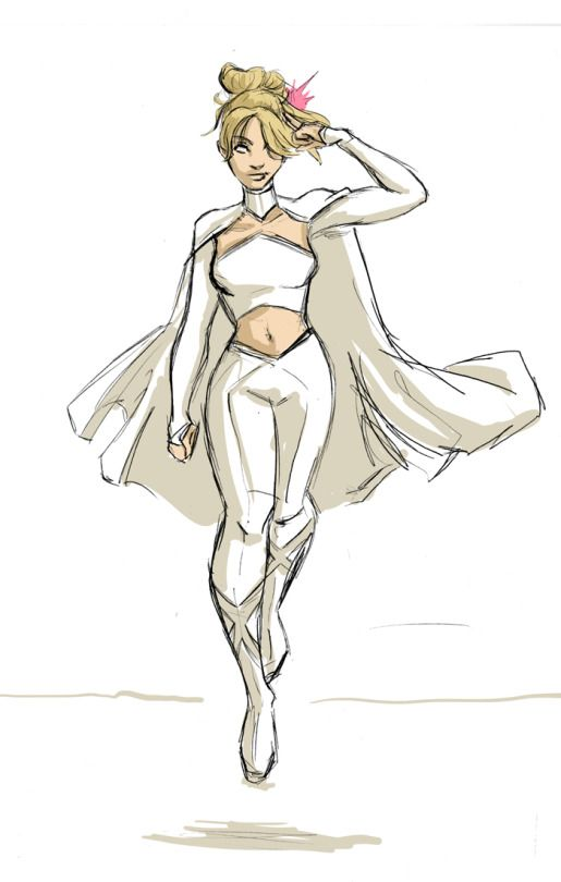 Emma Frost Fashion Redesign Project x-men art em/ma