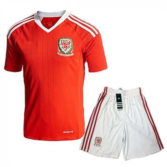2016 Wales National Team Home Red Soccer Jersey Kit(Shirt+Shorts)