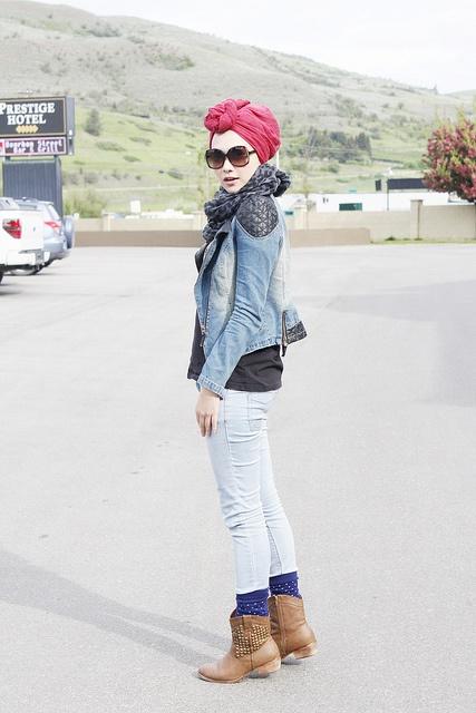 hijab fashion, turban Indah Nada Puspita