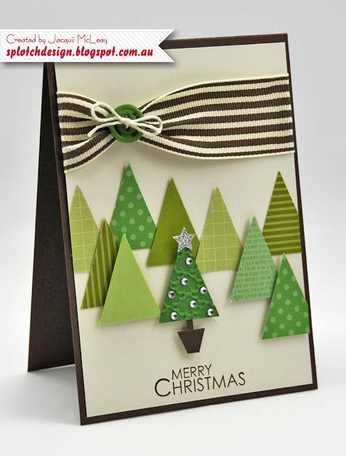 Splotch Design - Jacquii McLeay Independent Stampin' Up! Demonstrator: Holly Jolly Christmas Cards