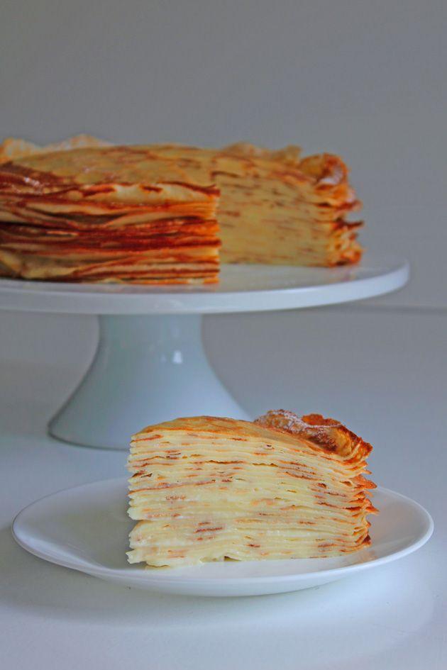 Vanilla mille crepe cake recipe