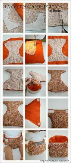 Orelane: Une couche pour bébé Rose, poupon de 36cm