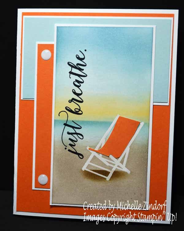Just Breathe – Stampin' Up! Card created by Michelle Zindorf - Colorful Seasons Stamp Set