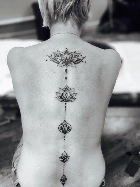 Lotus flower tattoo @tomtomtatts                                                                                                                                                     More