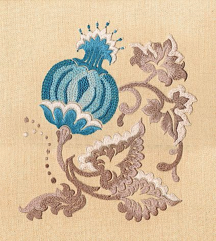 crewel embroidery design