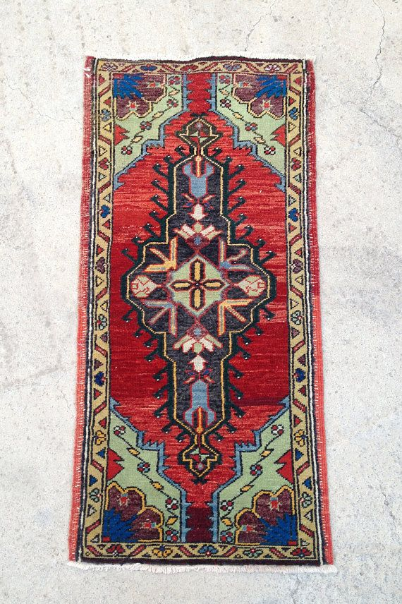 Oriental Rug Red Rug Turkish Rug Small Rug Bedside Rug