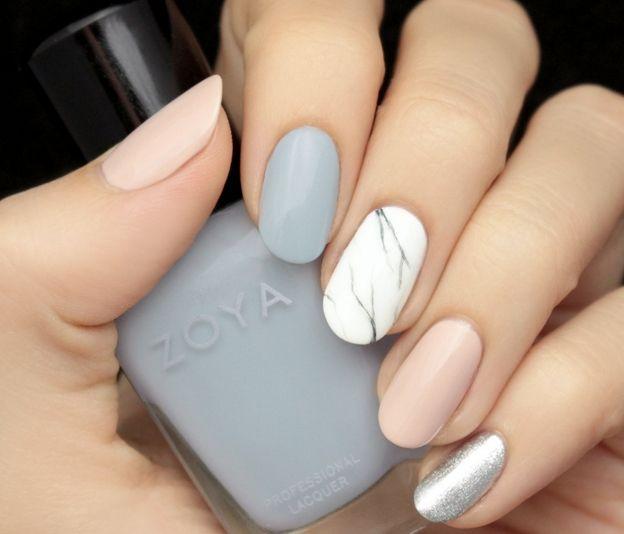 New Pastel Marble Nail 2016