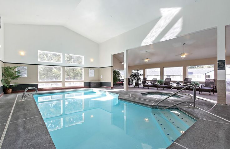 You can swim year-round in our indoor pool! #TheDiplomat #Apartments in #Washington