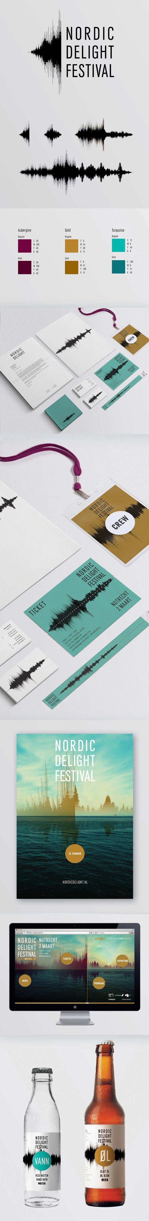 Using a sound graph on music festival media, genius! #brandingdesign