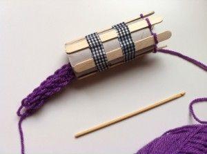 DIY tutorial como hacer tricotin casero con un rollo de WC