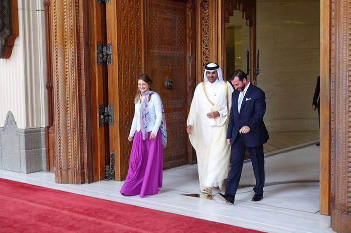 Luxarazzi:  HGD Guillaume and HGD Stéphanie during their recent trip to the Middle East, with Sheikh Abdullah bin Hamada, Deputy Emir of Qatar, Doha, Qatar, March 5, 2015