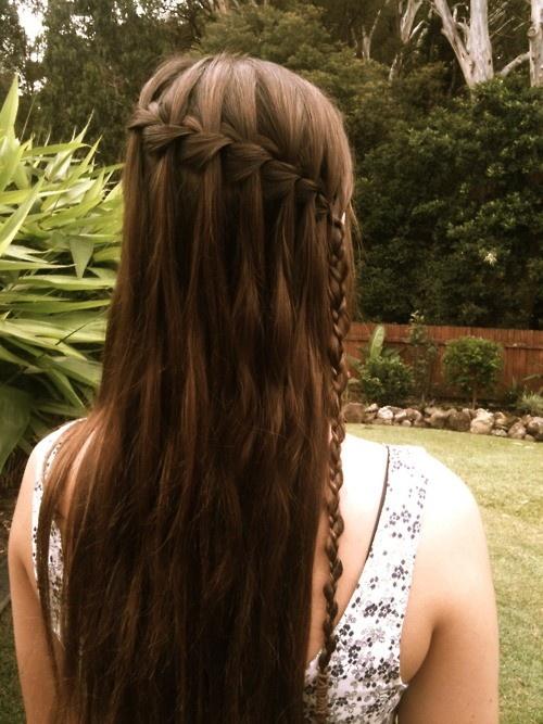 ..: Hair Ideas, Waterfalls, Hair Styles, Makeup, Long Hair, Braided Hairstyles, Waterfall Braids