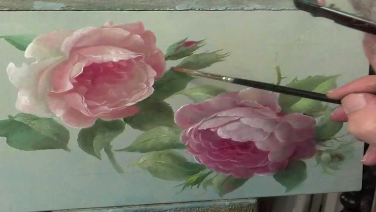 """How to paint a rose ~ The flemish (Belgium) flower painter Pieter Wagemans uses the """"A la Prima """" technique."""