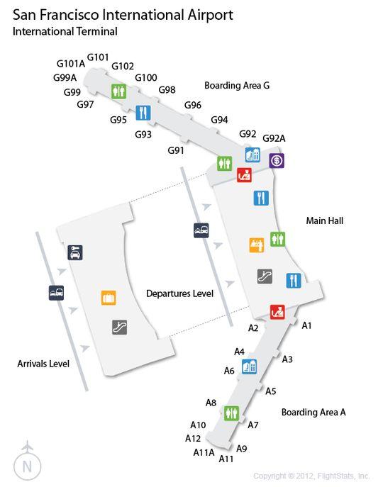 Sfo San Francisco International Airport Terminal Map