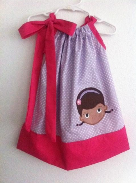 doc mcstuffins pillow case dress by MissBee286 on Etsy, $23.00