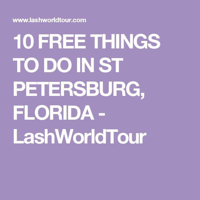 Sanibel Beach: 10 FREE THINGS TO DO IN ST PETERSBURG, FLORIDA