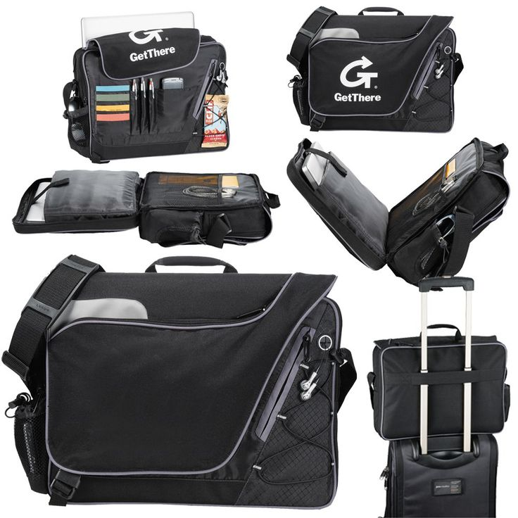 Summit Checkpoint-Friendly Compu-Case TSA-friendly laptop compartment allows for increased speed and convenience through airport security. Holds most 15 inch laptops. Main open compartment. Front zippered pocket and quick-access corner pocket and zippered accessory pocket. Front bungee cord. Adjustable shoulder strap. Rear trolley pass through. Made from 600D polycanvas.