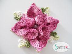 crochet flower free tutorial