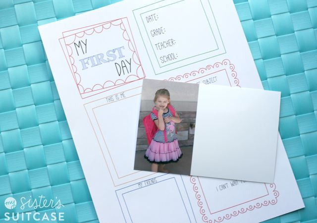 Lots of great ideas for starting back to school traditions. Love this fun twist on first day pictures