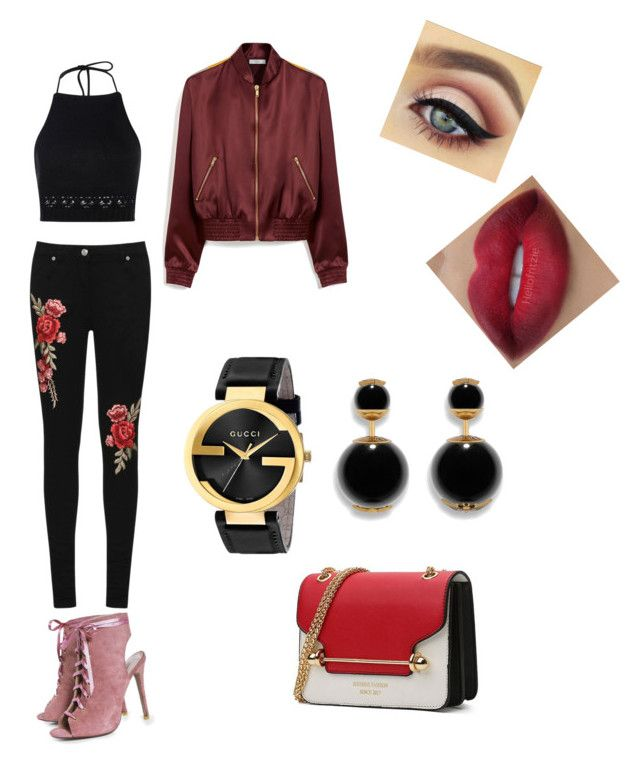 """""""Girls nite out"""" by lestariani on Polyvore featuring WearAll, Mulberry, Boohoo and Gucci"""
