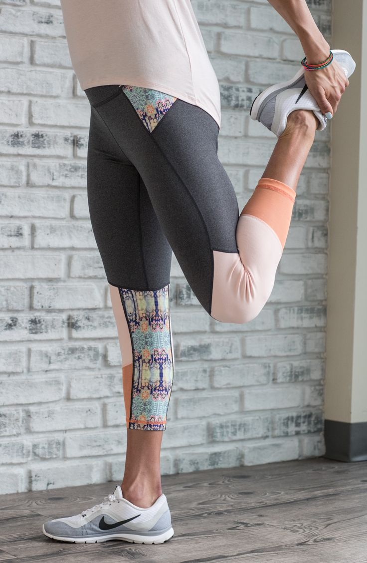 Brighten your workout wear with the CALIA™ by Carrie Underwood Women's Mesh Detail Capris. These four-way stretch bottoms move with you all day, while mesh pieces lend breathability to keep you feeling cool. A wide waistband offers comfortable core support, and a zip waist pocket conveniently stores small items. Made with signature Califlex fabric that boasts moisture-wicking and antimicrobial properties, the CALIA® Mesh Detail Capris help take your comfort to new levels.