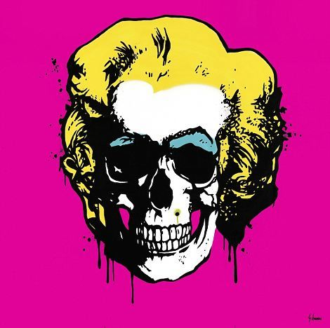Skull Paintings by Artists | Ioannou, the British pop-artist famous for his iconic 'Gangster Art ...