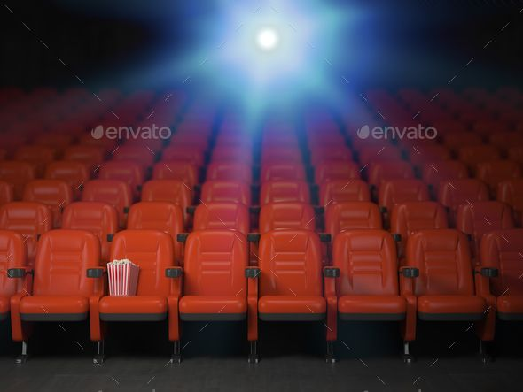 Cinema And Movie Theater Concept Background Empty Rows Of Red S Theatre Illustration Cinema Seats Photography Tutorials Photoshop