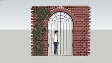 3D Model of Wisteria Gate and Wall