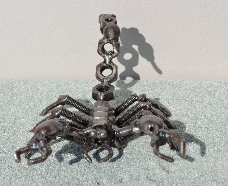 SCORPION 5 inches  - Scrap Metal Art. $35.00, via Etsy.