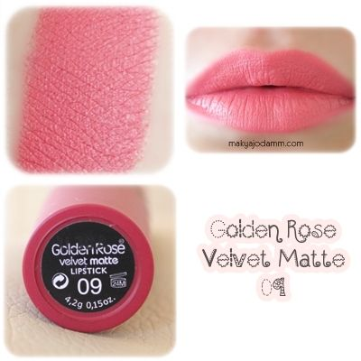 Golden Rose Velvet Matte ruj 09