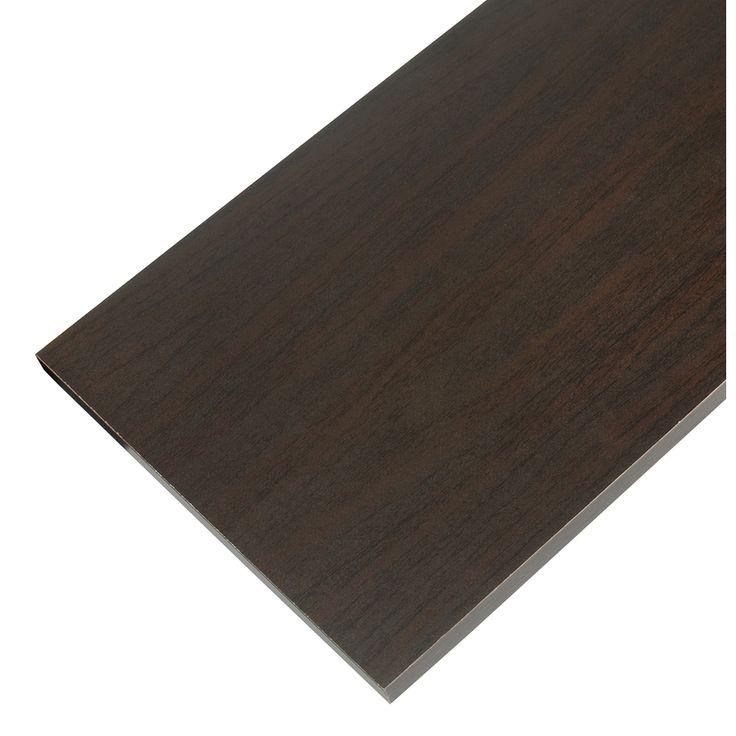 Rubbermaid Laminate 11.8-in W x 71.8-in L x 0.625-in D Espresso Shelf Board