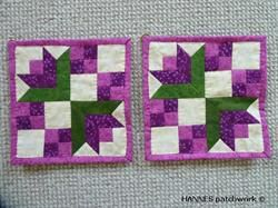 Beate Grydelapper - Mønster til 493 er et Pedari patchwork mønster indeholder alle papskabeloner