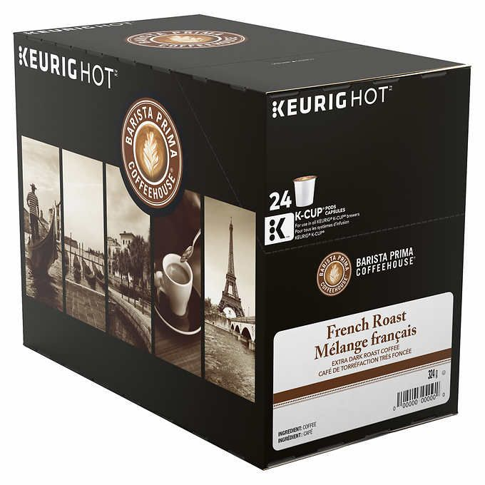 Barista Prima French Darkest Roast Coffee - 96 K-Cup Pods for Keurig Brewers - Costco.ca ($0.70/cup) - wait for sale
