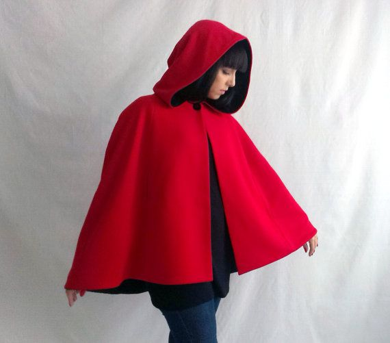 Little red riding hood red cape wool cape fall by AliceCloset