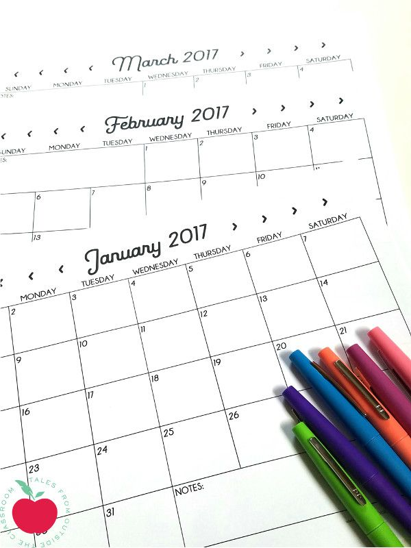 Best 25+ Printable Calendars Ideas On Pinterest | 2017 Calendar