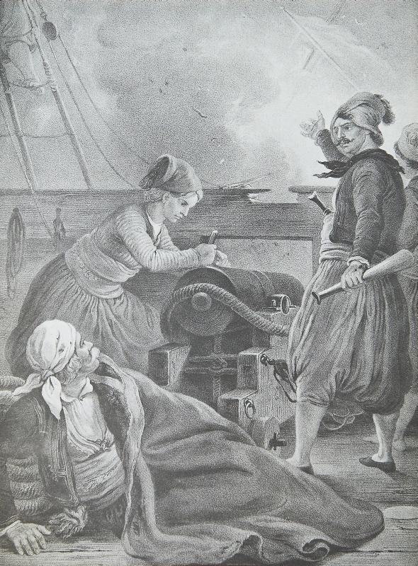 Πάνθεο Ηρώων του 21 - Ο Σαχτούρης και αι ναυτικαί νίκαι του 1824.Πρόκειται για ανατύπωση λιθογραφίας του Von Hess με θέμα τον αγωνιστή Ύδραίο ναυτικό του 21 Γεώργιο Σαχτούρη και τη ναυμαχία στη Σάμο την 1η Αυγούστου 1824.Ο γερμανός ζωγράφος Peter Von Hess φιλοτέχνησε κατά το διάστημα 1827-1834, 40 λιθογραφίες με θέματα από την Ελληνική Επανάσταση μετά από ανάθεση από τον φιλέλληνα βασιλιά της Βαυαρίας Λουδοβίκο, πατέρα του Όθωνα .Τα πρωτότυπα ευρίσκονται στην Πινακοθήκη του Μονάχου στη…