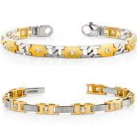 Diamantarmbänder aus Weißgold und Gelbgold
