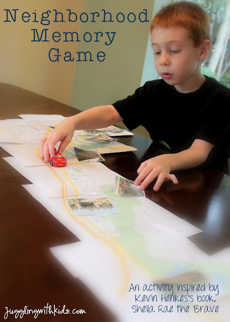 Our August summer virtual book club for kids post is up! Come and see our neighborhood memory game that was inspired by the book Sheila Rae the Brave. Also check out many of the other wonderful posts that other bloggers have done on books by Kevin Henkes! You won't be disappointed!