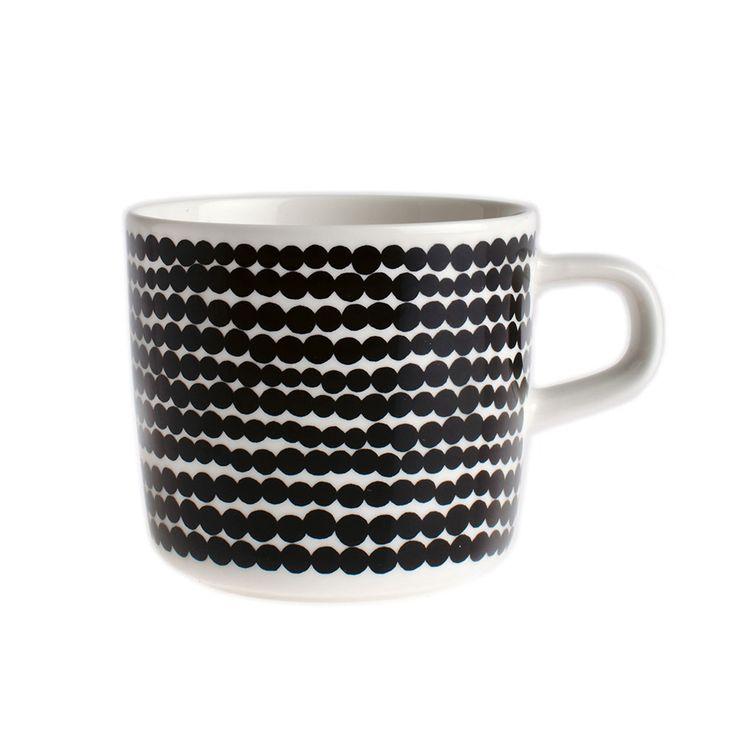 Siirtolapuutarha kaffekopp 20 cl, Vit/Svart, Marimekko