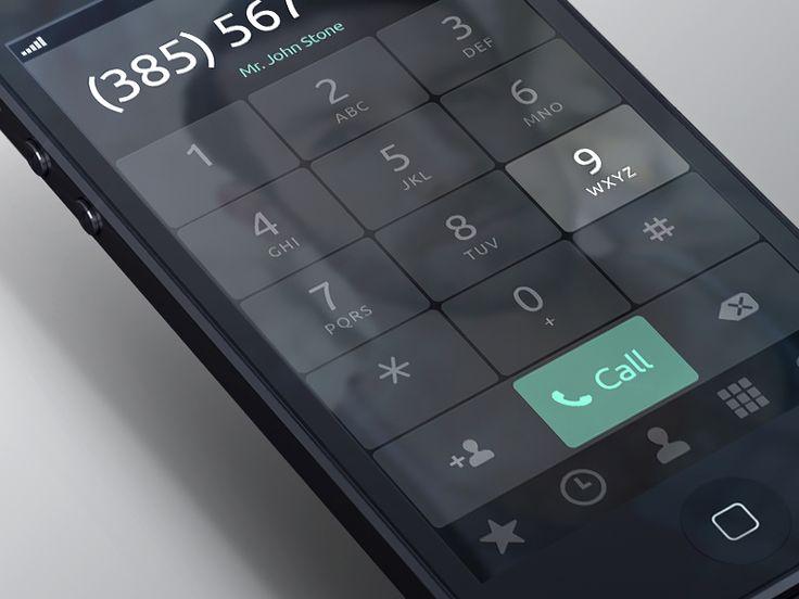 iPhone Dialer App by Kreativa Studio